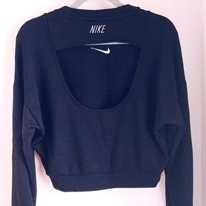 NIKE womens cropped sweater
